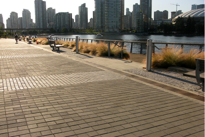 Seawall extension. We kept going around False Creek.