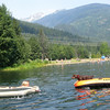 The dog-raft combo is quite popular in BC. Also, people like using air mattresses as giant rafts.