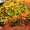 """""""Marinated butter beef"""" was the highlight here. Mostly rare beef, lots of crispy garlic and cilantro. Yum."""