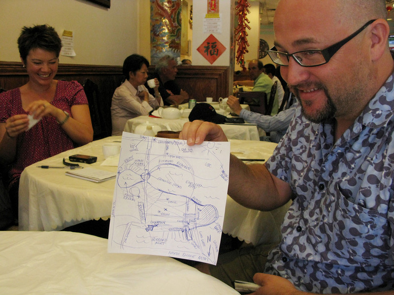 First meal: dim sum. It was quite serendipitous, as we sat next to the local founders of food blog Foodists.ca. They instructed us, with diagrams, on where to eat.