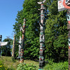 Totem pole collection near east side of Stanley Park