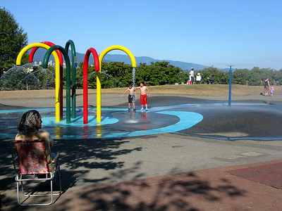 A little play area off the seawall route