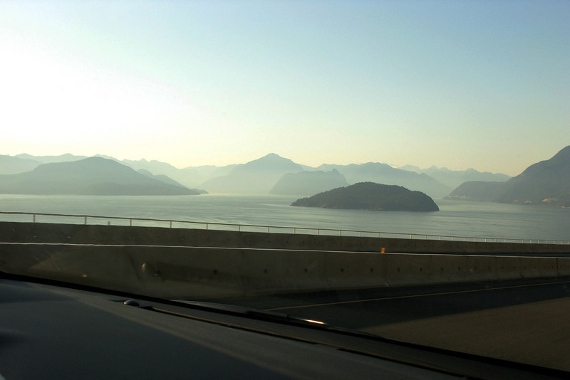 The drive follows the Sea-to-Sky highway--a beautiful ride that literally takes you from the Pacific Ocean (technically, the Strait of Georgia and Howe Sound) to some very big mountains in two hours.