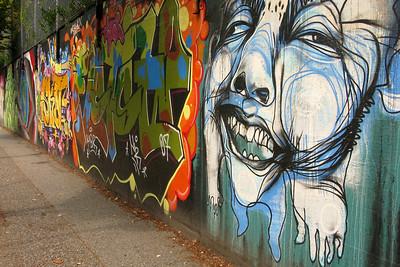 Street art/mural near Gastown