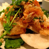 """Crispy, salty, garlicky fried shrimp using """"Grandmother's recipe."""" How could you not order it?"""