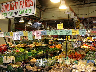 The produce section