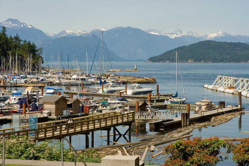 Gorgeous day. Horseshoe Bay, 50 miles north of Vancouver airport.