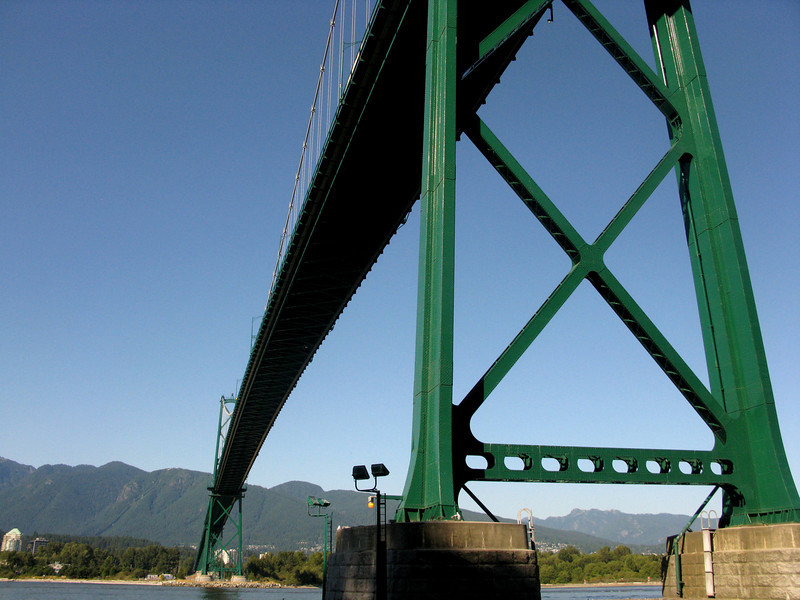 Lions Gate Bridge, connecting downtown to North Vancouver