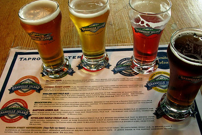 First local beer tasting: Granville Island Brewing. It was a good one.