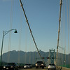 Crossing the Lions Gate Bridge out of the city. Next stop: Whistler, site of next year's Winter Olympics.