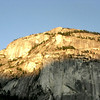 Midway on the drive is the town of Squamish. This big rock, called the Stawamus Chief, towers over the highway and is very popular among crazy rock climbers. (P.S. Squamish is also the site of our distant-future vacation home. We'll rent it out to you one day, for a fee.)