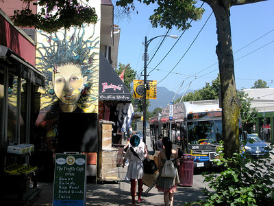 The main drag right near where we stayed: Commercial Drive, known for its hip/boho vibe