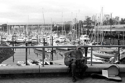 Down-on-his-luck dude on Granville Island