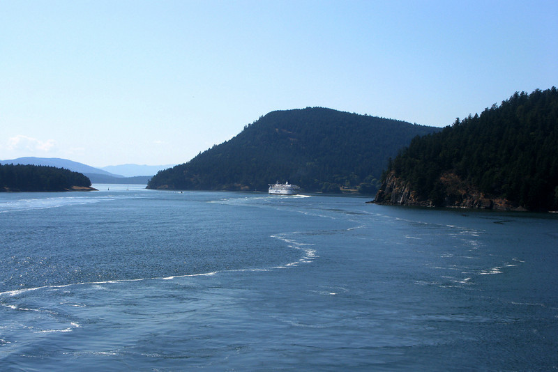 The two-hour ferry glides through the Gulf Islands.