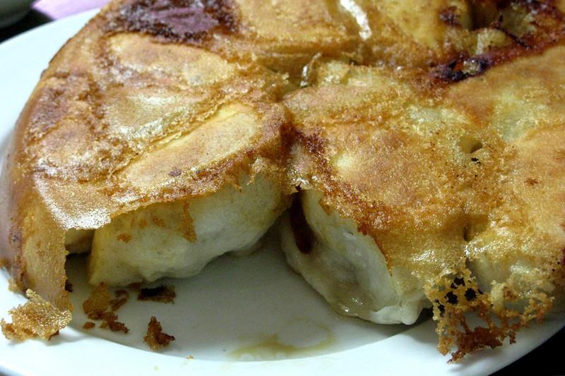 Ridiculous housemade pork-filled pan-fried dumplings at Sha-Lin Noodle House