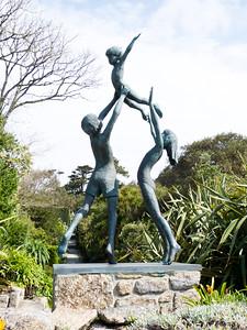 Tresco children statue