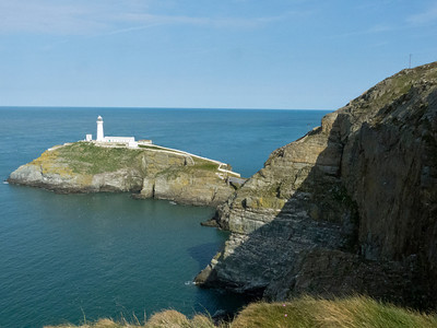 Another view of South Stacks. The area is a beautiful but fragile maritime sward which is the home to guillemotts and razorbills.
