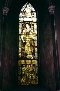 Stained glass of St. Patrick