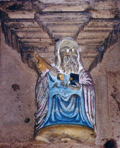 Carving of one of the keys in the crypt,  Rosslyn Chapel - Scotland