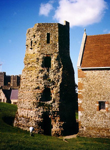 Ancient Roman lighthouse at Dover Castle