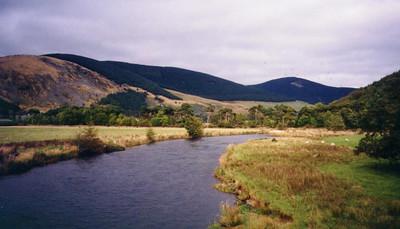 Along a river in Scotland