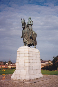 Statue of Robert the Bruce, Bannockburn, Scotland.