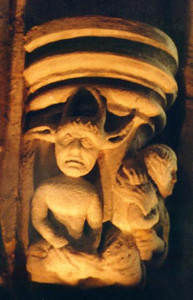 Carving of the Devil in Rosslyn Chapel - Scotland