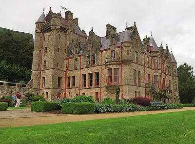 Belfast Castle, now a hotel with formal gardens .