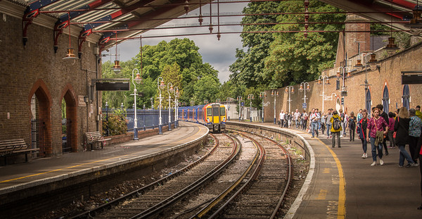 Our train pulling into the Windsor & Eton Riverside station