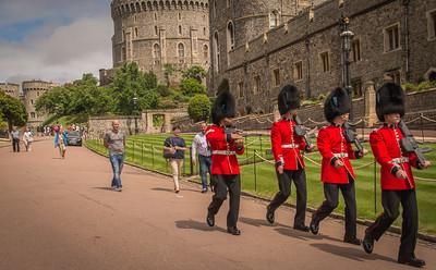Walking to work at Windsor Castle