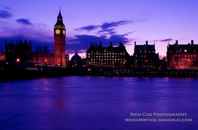 Across the Thames at dusk