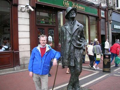 Joyce statue off O'Connell St, Dublin
