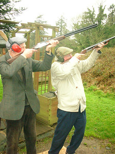 Clay pigeon shooting at Dromoland.