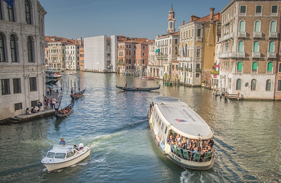 Grand Canal, Venice, View from Rialto Bridge