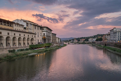 Arno River at sunset, Florence