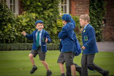 British school boys, Hampton Court Palace