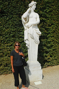 Versailles.  Two Roman goddesses.