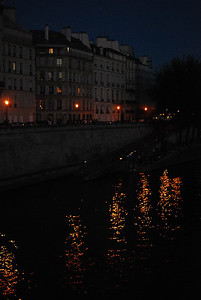 Seine at night.
