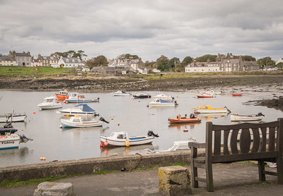 Isle of Whithorn harbor.