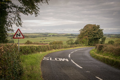 The road out of Wigtown.