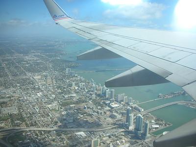Over Miami.