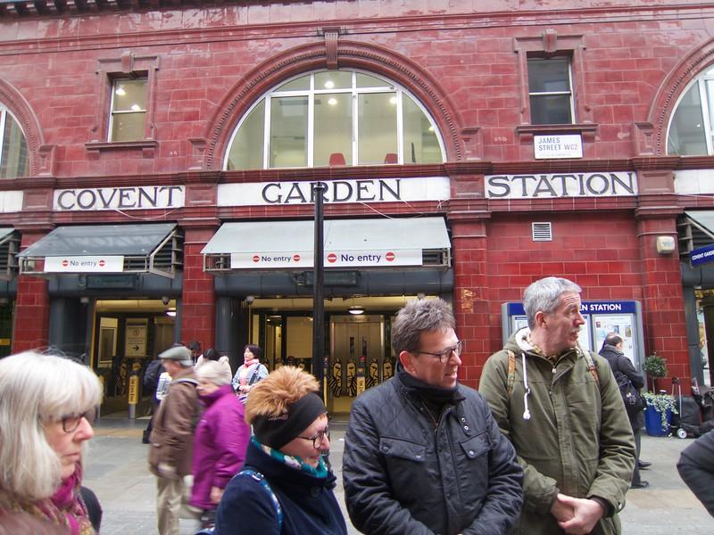 Covent Garden Walk Begins