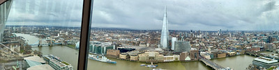Looking toward the Thames from the Sky Garden Terrace