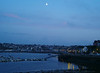 Moonlight on Camaret from our apartment window.
