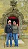 Darby & Joan at the main church door.