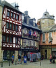 Typical half-timbered houses in Quimper.