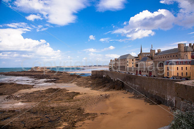 St Malo at low tide