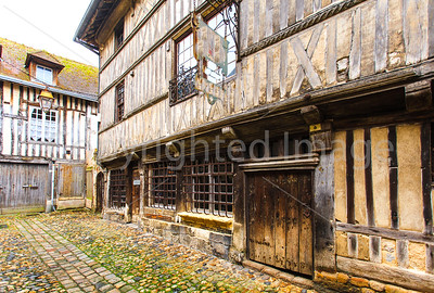 Old houses in Honfluer