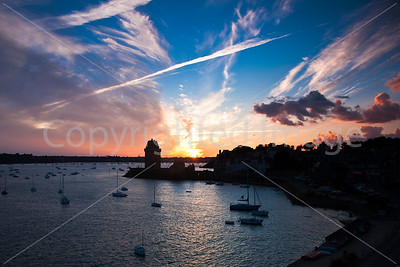 St Malo at sunset