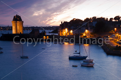 St Malo after sunset